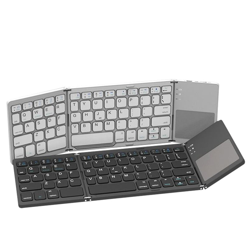 Ergonomic collapsible Bluetooth Keyboard 3 in 1 Mini Wireless Keyboard with Touch Pad
