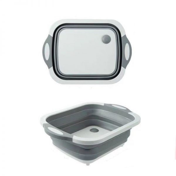 Collapsible Silicone Washing Basket & Chopping Board 2 in 1