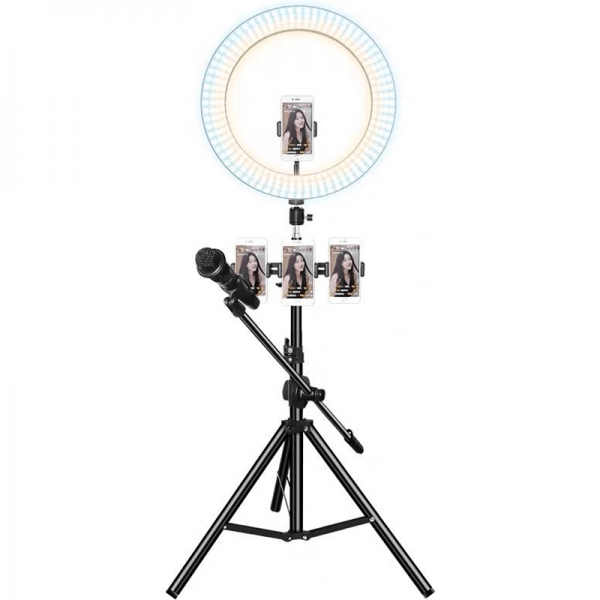 Latest 10''-11'' Selfie Ring Light with Tripod Stand LED Light Tube Adjustable Height Lighting Uniformity Long Life Perfect for Live Streaming Host Multifunctional for photography Vedio Recording